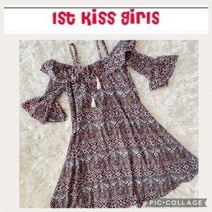 Girls boho hippie dress